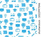 education seamless pattern | Shutterstock .eps vector #1022997046