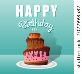 happy birthday greeting cards... | Shutterstock .eps vector #1022998582