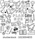 planner and journal vector... | Shutterstock .eps vector #1023004855