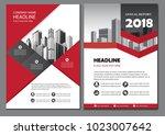 red design brochure business... | Shutterstock .eps vector #1023007642