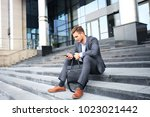 handsome male business... | Shutterstock . vector #1023021442