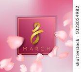 8 march vector card | Shutterstock .eps vector #1023024982