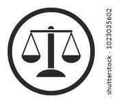 scale icon vector | Shutterstock .eps vector #1023035602