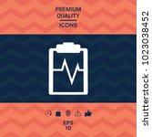 electrocardiogram symbol icon   Shutterstock .eps vector #1023038452