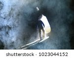 entrance to the cave  a male... | Shutterstock . vector #1023044152