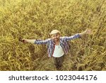 cheerful happy man portrait ... | Shutterstock . vector #1023044176
