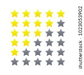 feedback rating star icon set