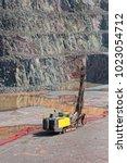 driller machine in a quarry...