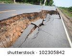 cracked asphalt road | Shutterstock . vector #102305842