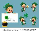 happy saint patrick's day.... | Shutterstock .eps vector #1023059242