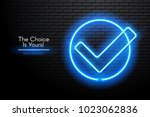 image of a choice neon lamp... | Shutterstock .eps vector #1023062836