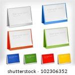 blank desktop calendars. vector ... | Shutterstock .eps vector #102306352