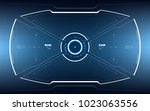 sci fi concept hud interface... | Shutterstock .eps vector #1023063556