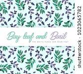 bay leaf pattern  wedding honor ...   Shutterstock . vector #1023065782