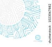 futuristic cybernetic scheme ...   Shutterstock .eps vector #1023067882