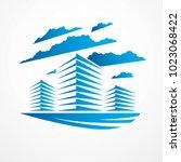 office building  modern... | Shutterstock .eps vector #1023068422