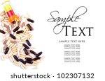 assorted pills or medicine... | Shutterstock . vector #102307132