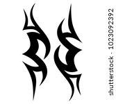 tattoo tribal vector design.... | Shutterstock .eps vector #1023092392