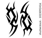 tattoo tribal vector design.... | Shutterstock .eps vector #1023092416