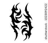 tattoo tribal vector design.... | Shutterstock .eps vector #1023092422