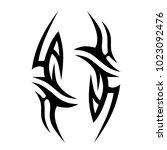 tattoo tribal vector design.... | Shutterstock .eps vector #1023092476