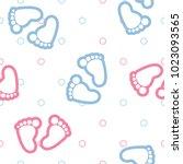 vector seamless background... | Shutterstock .eps vector #1023093565