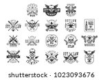 criminal outlaw street club... | Shutterstock .eps vector #1023093676