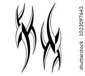 tattoo tribal vector design.... | Shutterstock .eps vector #1023097642