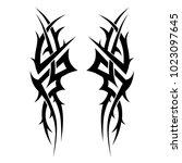 tribal pattern tattoo vector...   Shutterstock .eps vector #1023097645