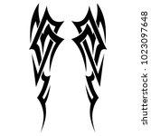 tribal pattern tattoo vector...   Shutterstock .eps vector #1023097648