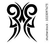 tribal tattoo  art design... | Shutterstock .eps vector #1023097675