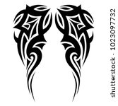 tattoo tribal sleeve design ... | Shutterstock .eps vector #1023097732