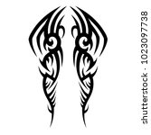 tattoo tribal vector design.... | Shutterstock .eps vector #1023097738