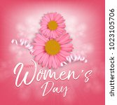 happy women's day. vector... | Shutterstock .eps vector #1023105706