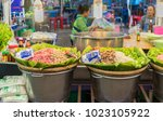 editorial use only  thai noodle ... | Shutterstock . vector #1023105922