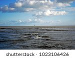 very dramatic sea scene  blue... | Shutterstock . vector #1023106426