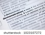 close up to the dictionary... | Shutterstock . vector #1023107272