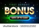 first deposit bonus gambling... | Shutterstock .eps vector #1023112102