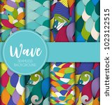 abstract wave seamless pattern...   Shutterstock .eps vector #1023122515