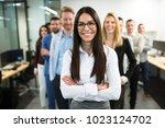 portrait of business team...   Shutterstock . vector #1023124702
