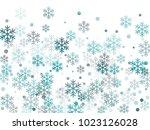 snowflake macro vector...   Shutterstock .eps vector #1023126028