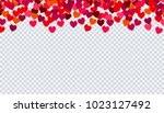 heart confetti for valentines... | Shutterstock .eps vector #1023127492