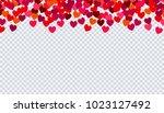 heart confetti for valentines... | Shutterstock .eps vector #1023127492
