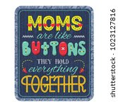 mothers day lettering... | Shutterstock .eps vector #1023127816