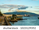 city harbor view at ponta... | Shutterstock . vector #1023129352