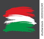 hungary flag. grunge brush... | Shutterstock .eps vector #1023131245