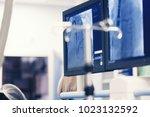 minimally invasive cardiology... | Shutterstock . vector #1023132592