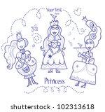 three princesses | Shutterstock .eps vector #102313618