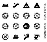solid vector icon set   taxi...   Shutterstock .eps vector #1023140416
