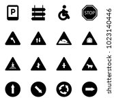 solid vector icon set   parking ... | Shutterstock .eps vector #1023140446